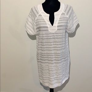 Seafolly embroidered tunic cover up beach textured